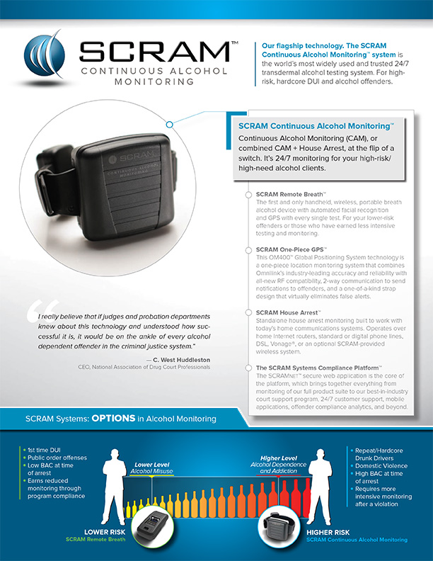 SCRAM Continuous Alcohol Monitoring Brochure